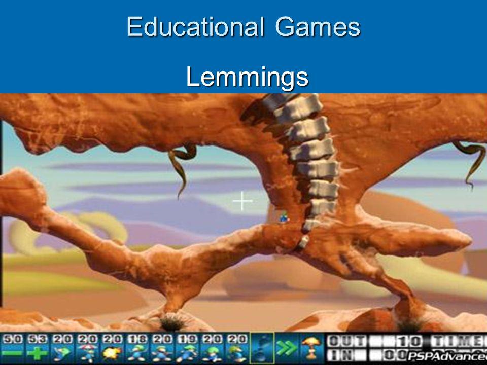 Educational Games Lemmings Lemmings
