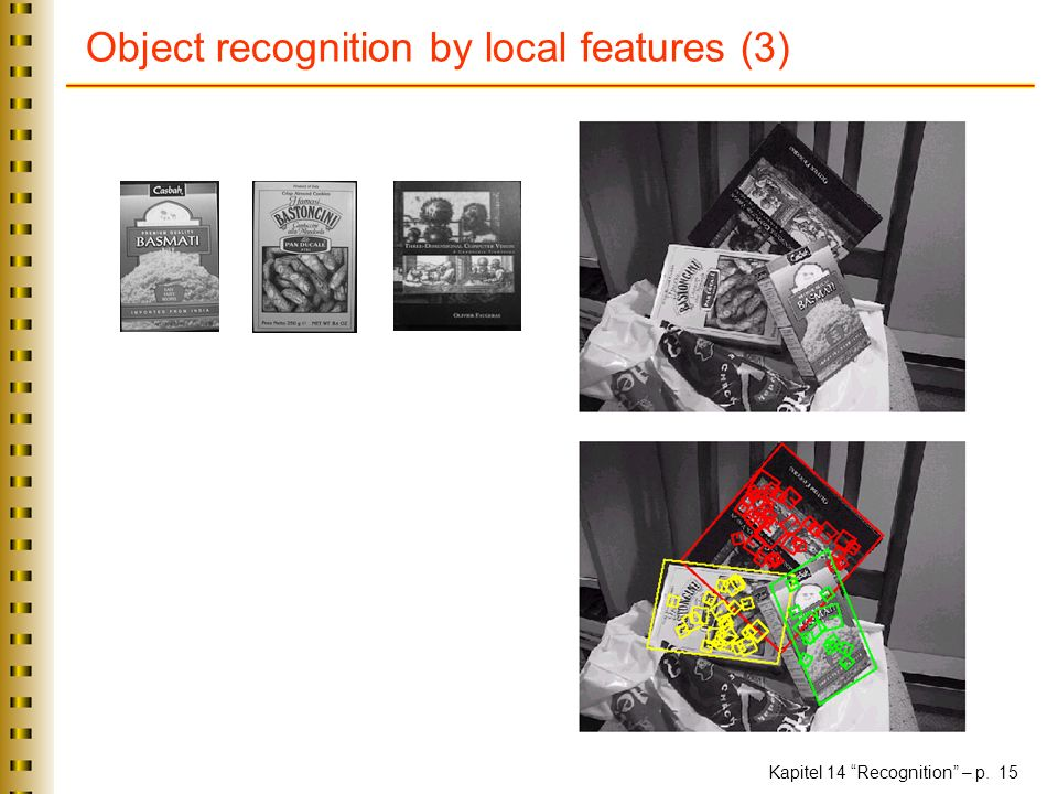 Kapitel 14 Recognition – p. 15 Object recognition by local features (3)