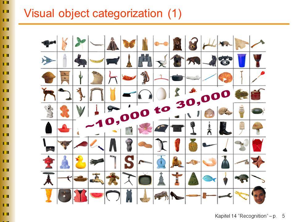 Kapitel 14 Recognition – p. 5 Visual object categorization (1)