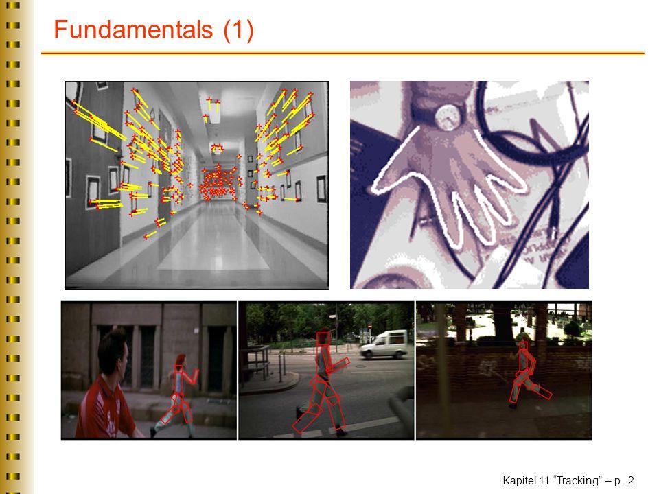 Kapitel 11 Tracking – p. 2 Fundamentals (1)