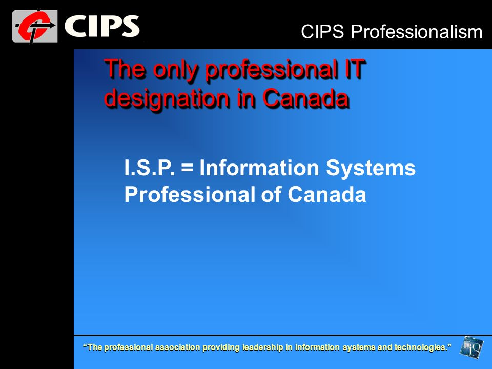 The professional association providing leadership in information systems and technologies.