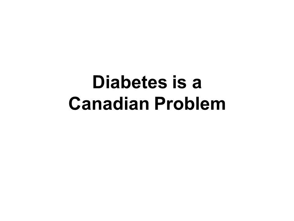 Diabetes is a Canadian Problem