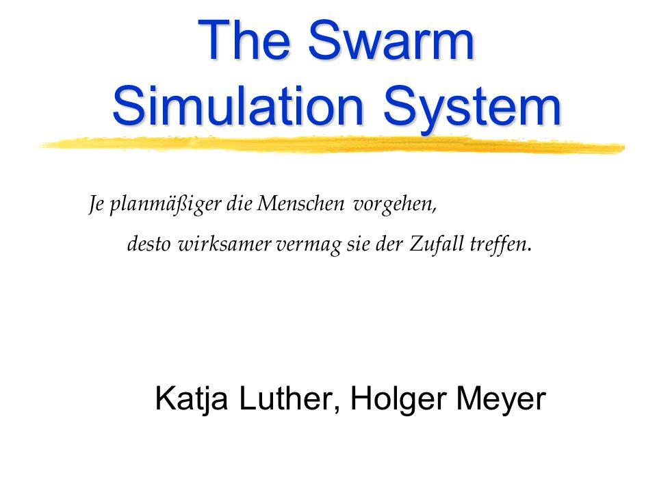 The Swarm Simulation System Je planmäßiger die Menschen vorgehen, desto wirksamer vermag sie der Zufall treffen. Katja Luther, Holger Meyer