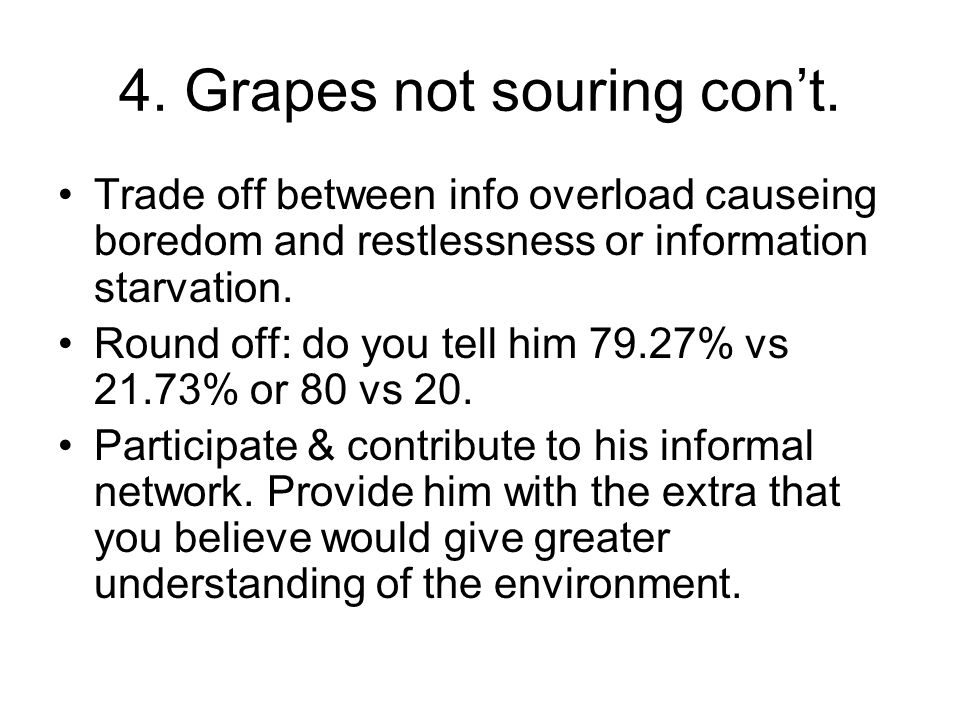 4. Grapes not souring cont.