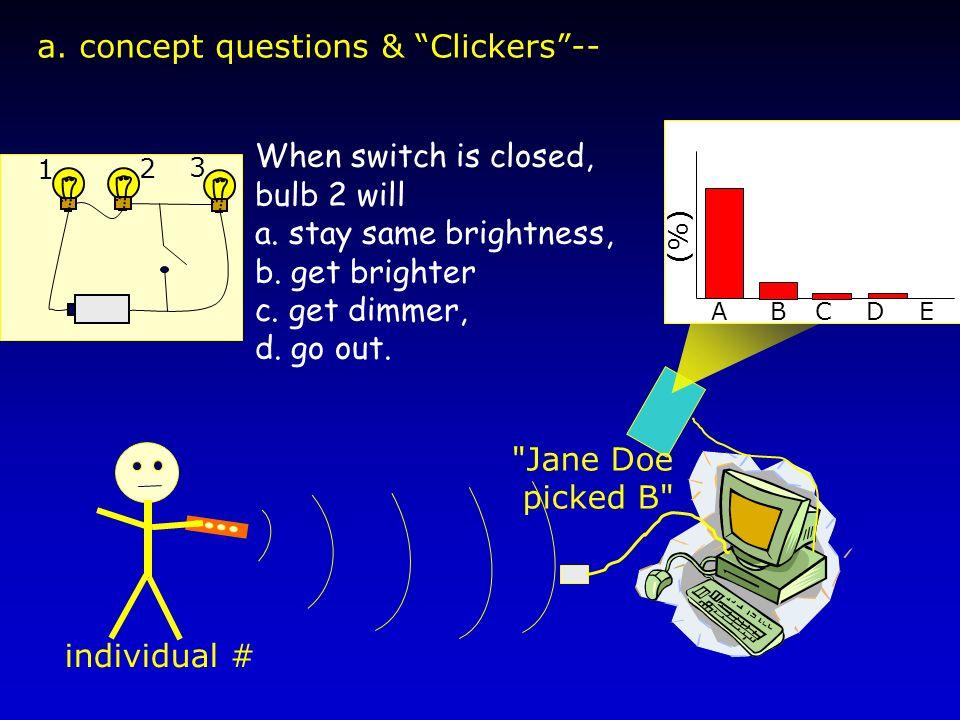 a. concept questions & Clickers-- individual #