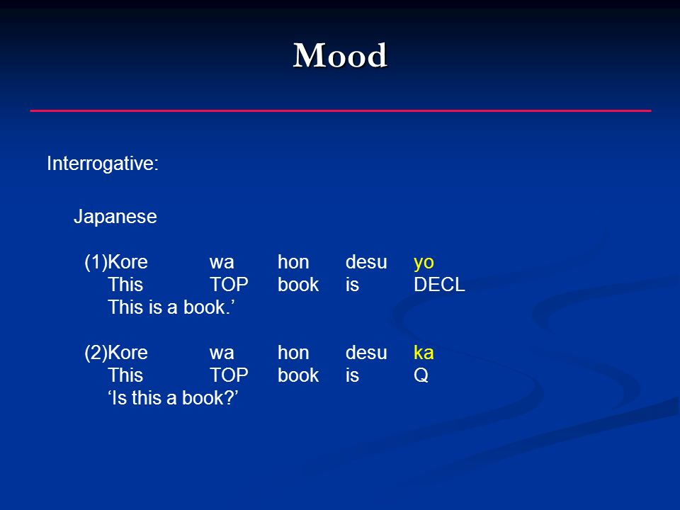 Mood Japanese (1)Korewahondesuyo This TOPbookis DECL This is a book.