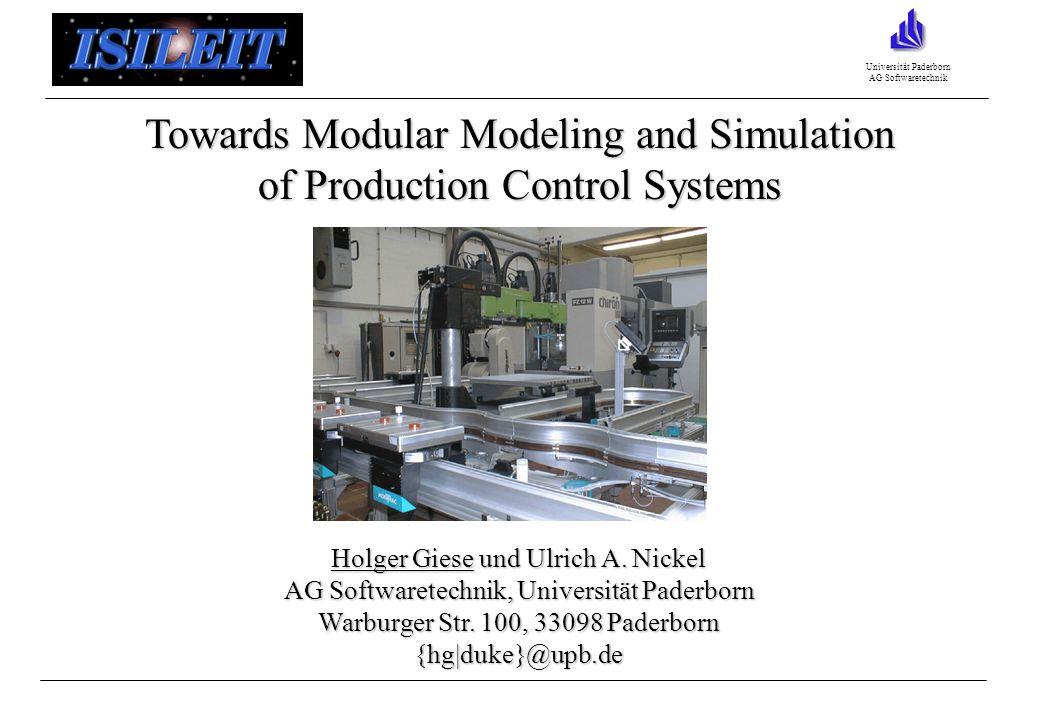 Universität Paderborn AG Softwaretechnik Holger Giese und Ulrich A.