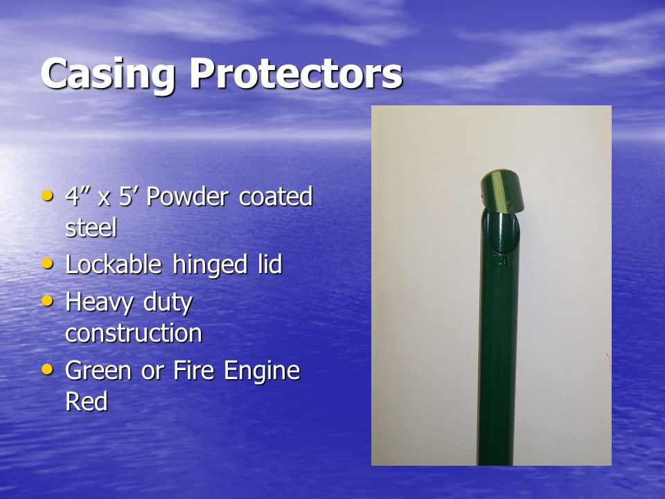 Casing Protectors 4 x 5 Powder coated steel Lockable hinged lid Heavy duty construction Green or Fire Engine Red
