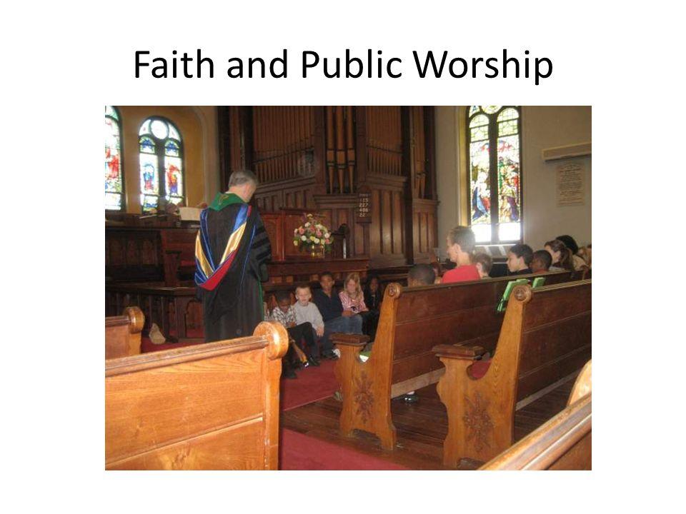 Faith and Public Worship