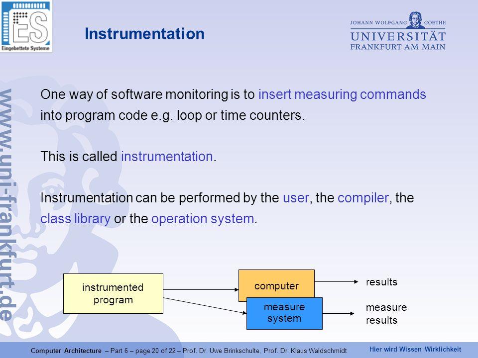 Hier wird Wissen Wirklichkeit Computer Architecture – Part 6 – page 20 of 22 – Prof.