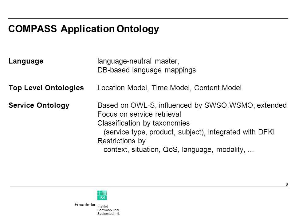 Institut Software- und Systemtechnik Fraunhofer ISS T 9 Service Ontology Overview