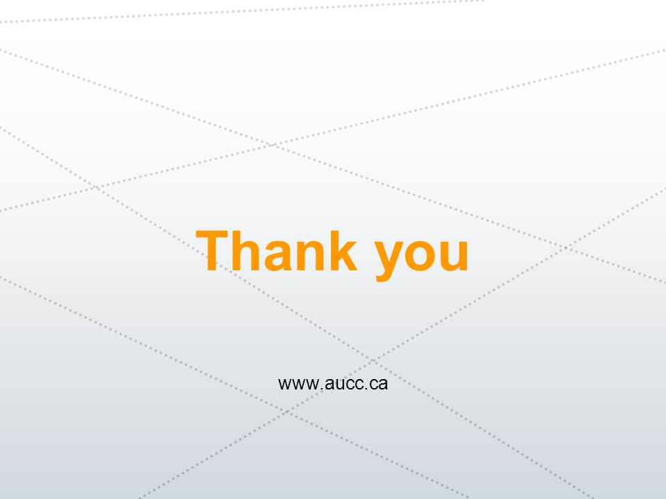 Thank you www.aucc.ca