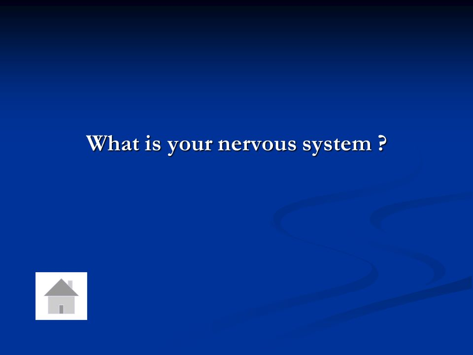 Your bodys response to stimuli are co-ordinated by this system.