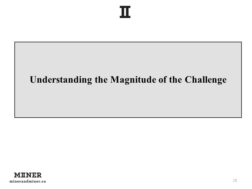 Understanding the Magnitude of the Challenge 28
