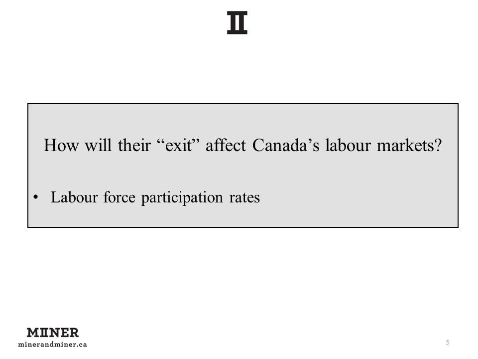 How will their exit affect Canadas labour markets? Labour force participation rates 5