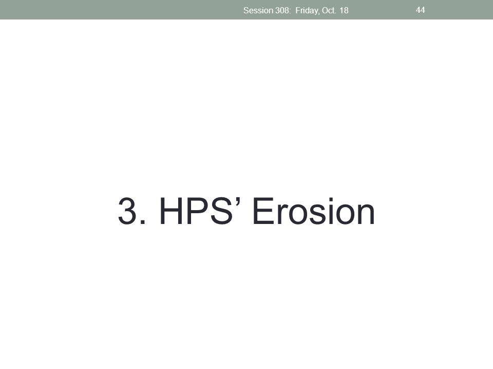 3. HPS Erosion Session 308: Friday, Oct. 18 44