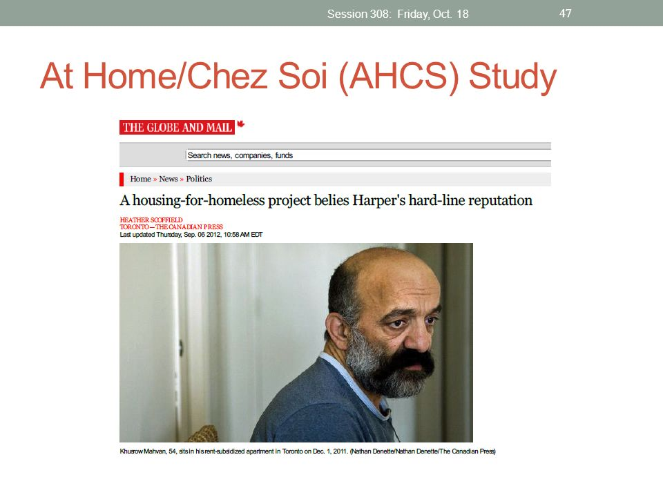 At Home/Chez Soi (AHCS) Study Session 308: Friday, Oct. 18 47