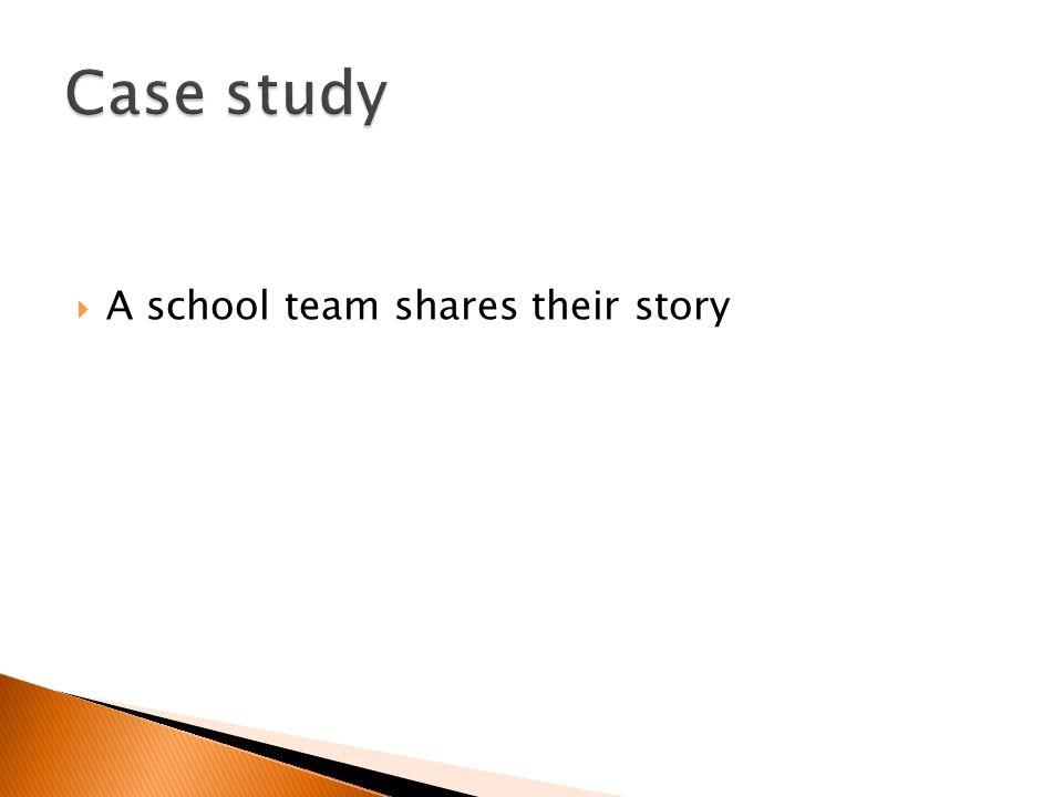 A school team shares their story