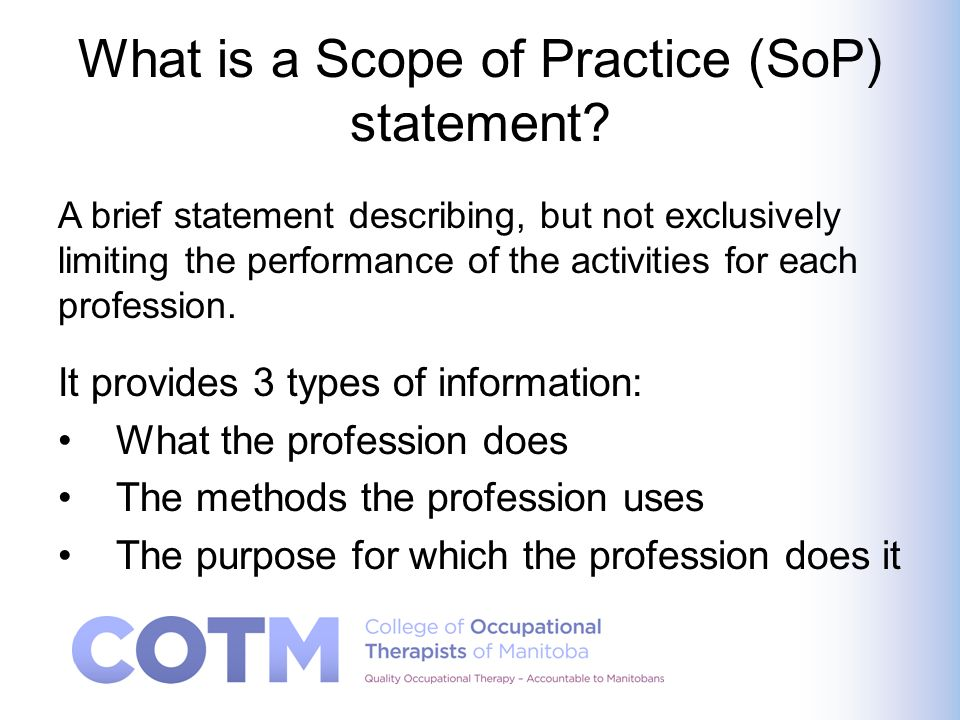 Should everything we do be in the Scope of Practice.