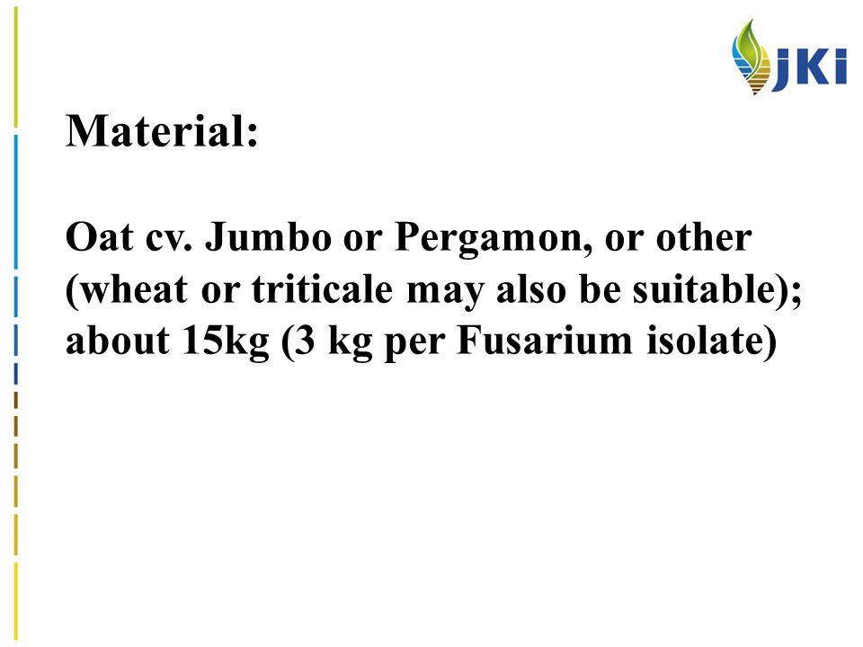 Material: Oat cv.