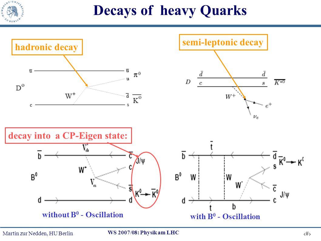 Martin zur Nedden, HU Berlin 26 WS 2007/08: Physik am LHC Top mass reconstruction