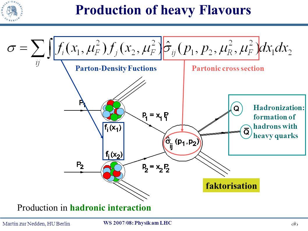 Martin zur Nedden, HU Berlin 29 WS 2007/08: Physik am LHC Mean Value of Top-Production Cross Section