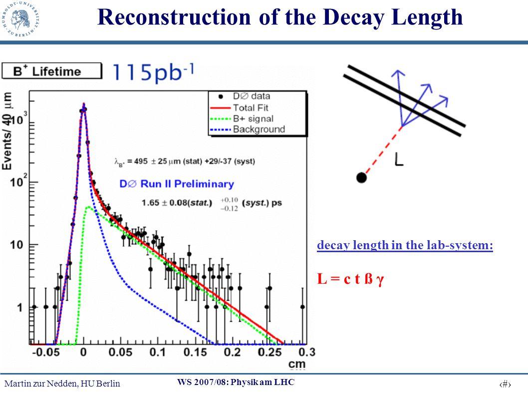 Martin zur Nedden, HU Berlin 10 WS 2007/08: Physik am LHC Impact-Parameter in b-flavourd Jets