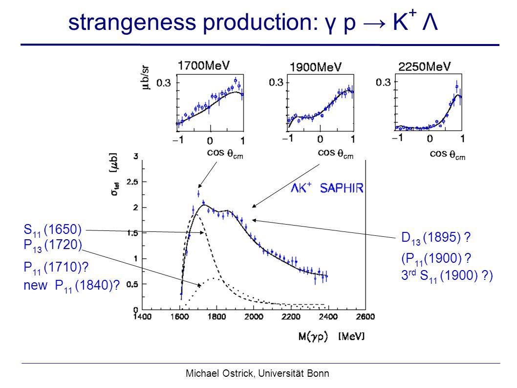 Michael Ostrick, Universität Bonn strangeness production: γ p K + Λ D 13 (1895) .
