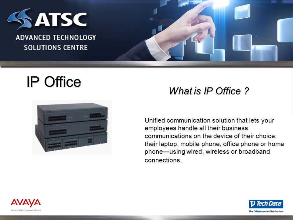 IP Office Unified communication solution that lets your employees handle all their business communications on the device of their choice: their laptop