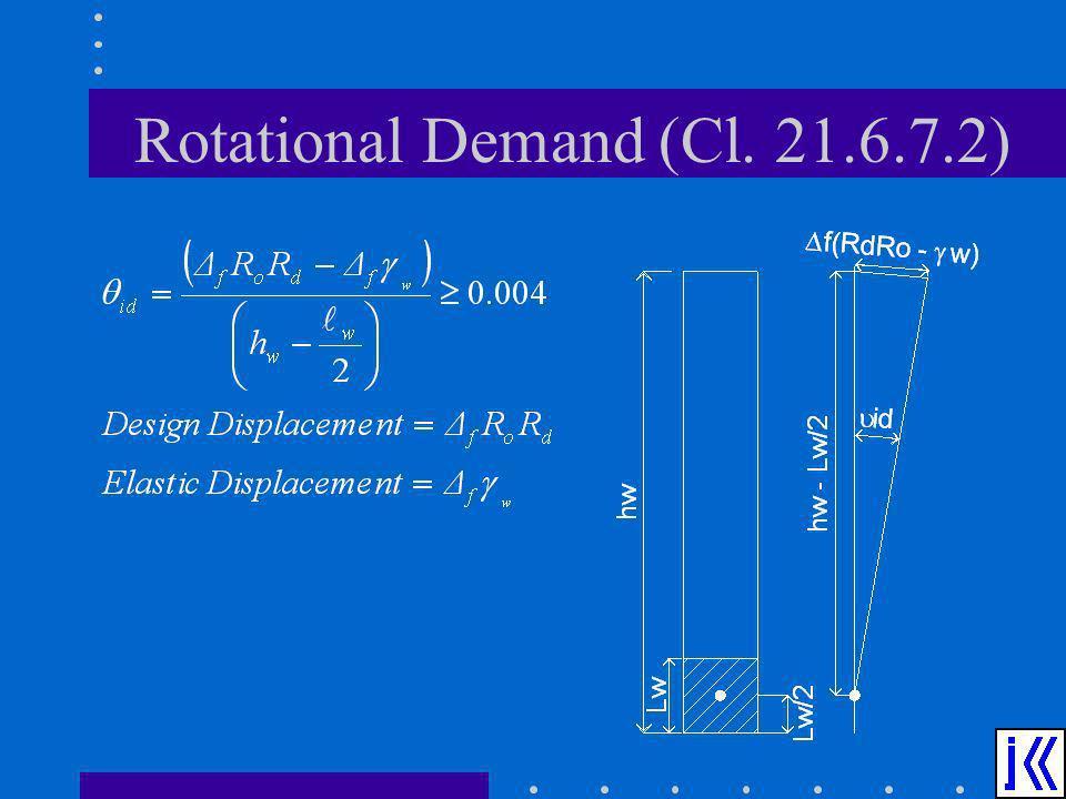 Rotational Demand (Cl. 21.6.7.2)