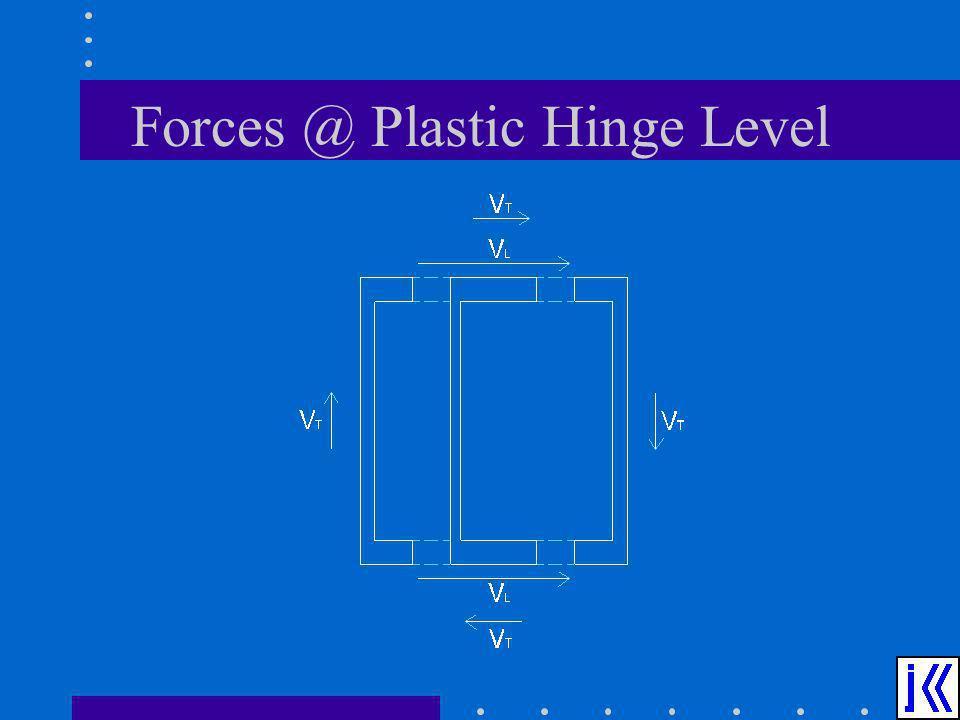 Forces @ Plastic Hinge Level