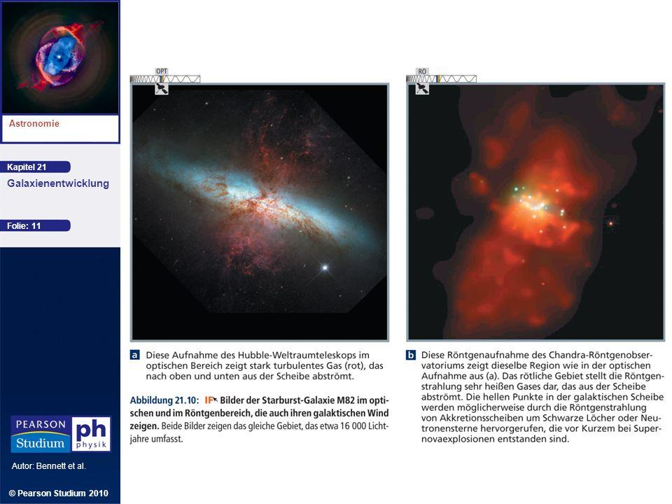 Kapitel 21 Astronomie Autor: Bennett et al. Galaxienentwicklung © Pearson Studium 2010 Folie: 11