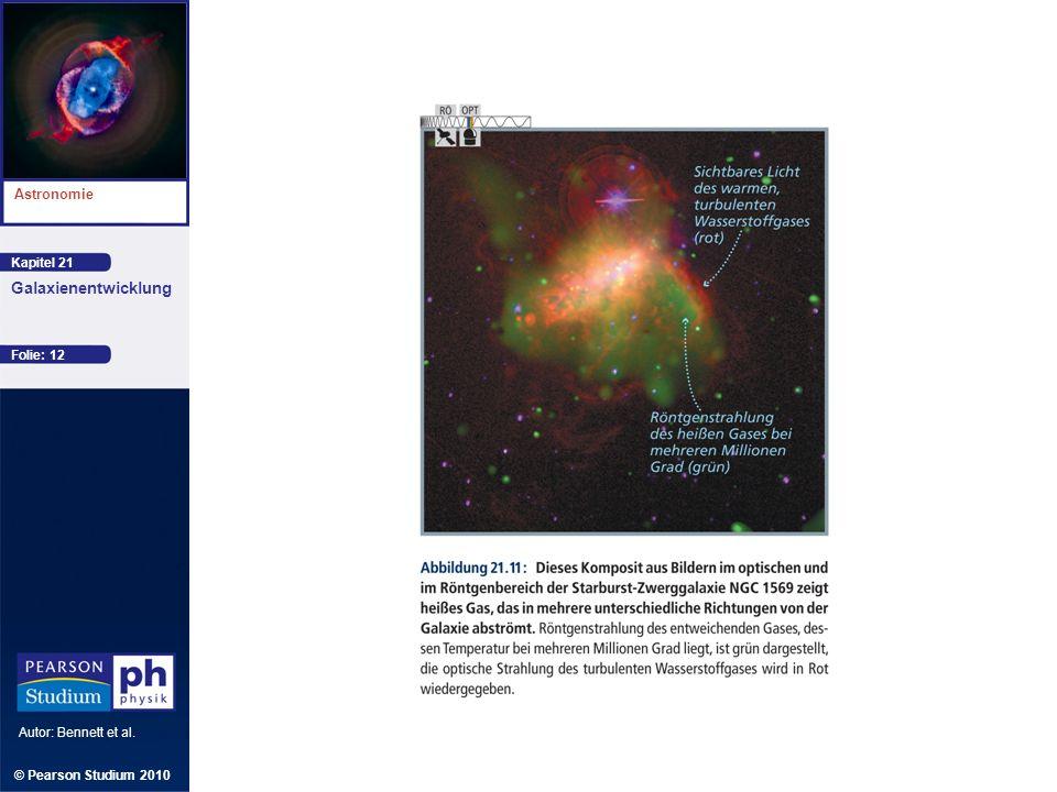 Kapitel 21 Astronomie Autor: Bennett et al. Galaxienentwicklung © Pearson Studium 2010 Folie: 12