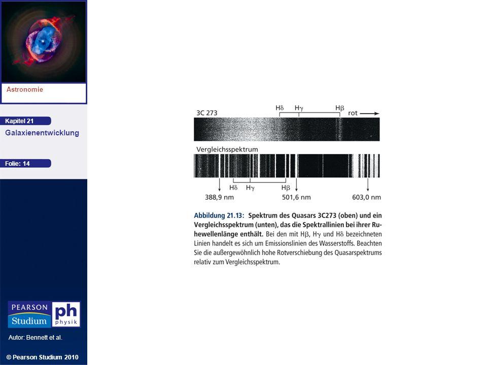Kapitel 21 Astronomie Autor: Bennett et al. Galaxienentwicklung © Pearson Studium 2010 Folie: 14