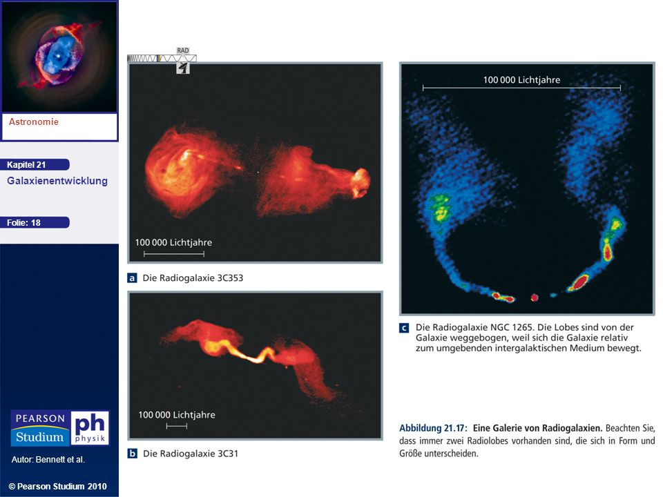 Kapitel 21 Astronomie Autor: Bennett et al. Galaxienentwicklung © Pearson Studium 2010 Folie: 18
