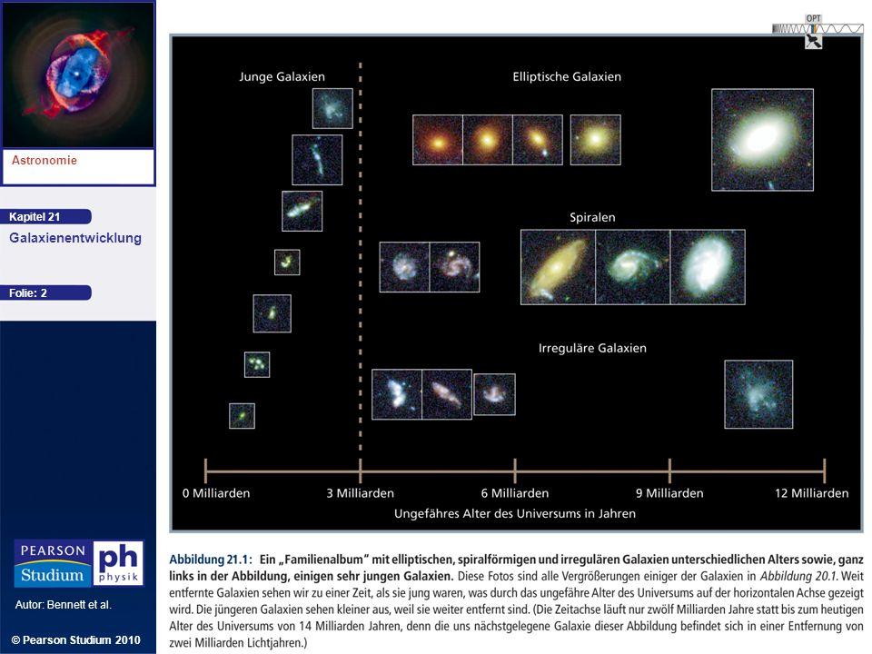 Kapitel 21 Astronomie Autor: Bennett et al. Galaxienentwicklung © Pearson Studium 2010 Folie: 2