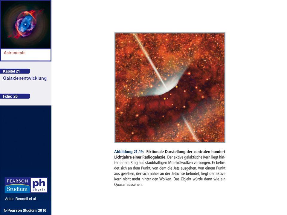 Kapitel 21 Astronomie Autor: Bennett et al. Galaxienentwicklung © Pearson Studium 2010 Folie: 20