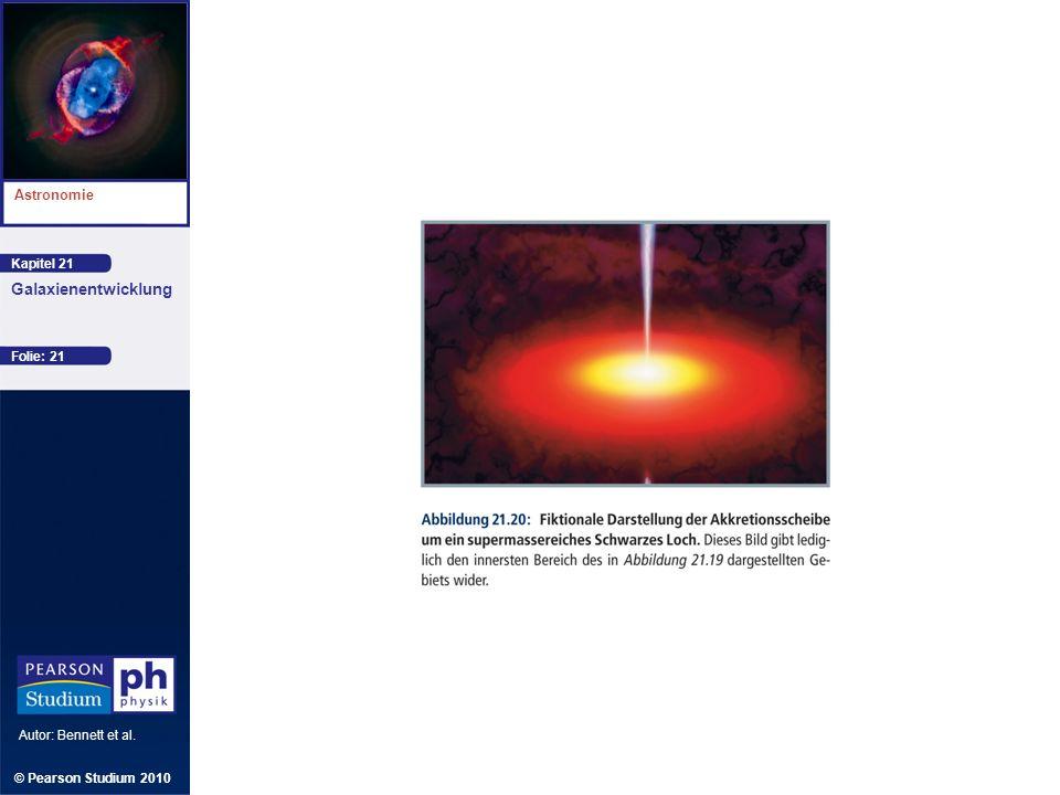 Kapitel 21 Astronomie Autor: Bennett et al. Galaxienentwicklung © Pearson Studium 2010 Folie: 21
