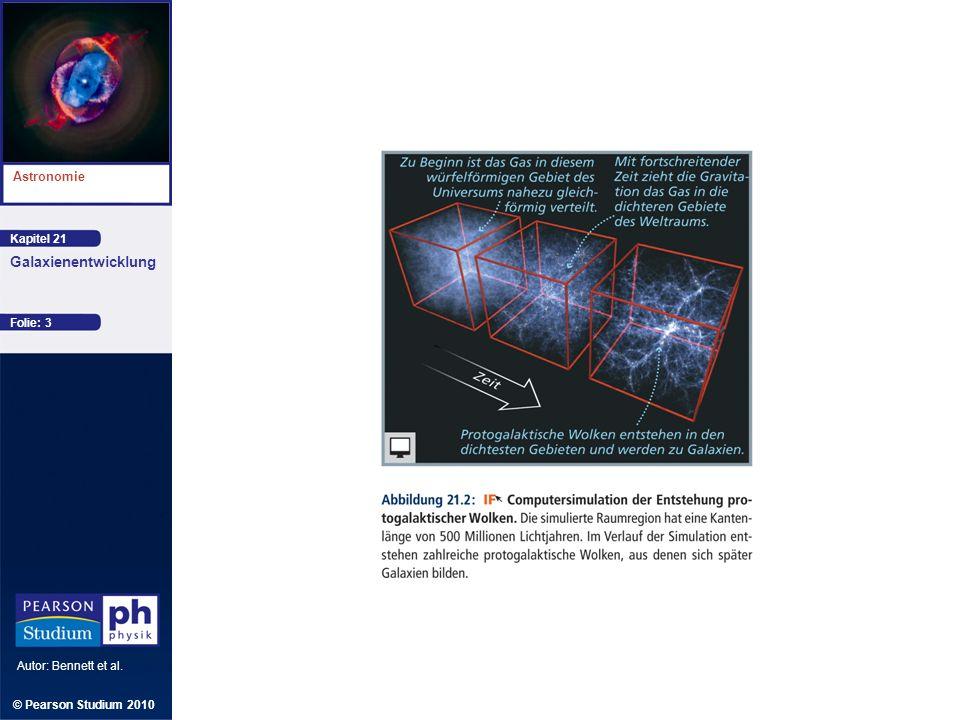 Kapitel 21 Astronomie Autor: Bennett et al. Galaxienentwicklung © Pearson Studium 2010 Folie: 3