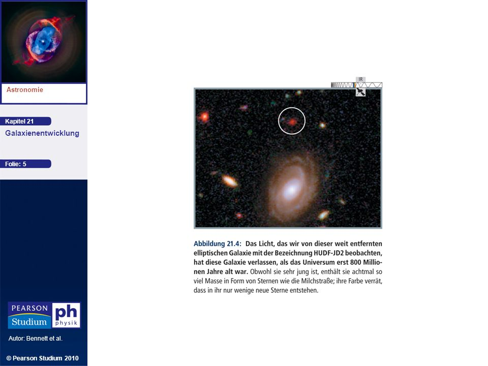 Kapitel 21 Astronomie Autor: Bennett et al. Galaxienentwicklung © Pearson Studium 2010 Folie: 5