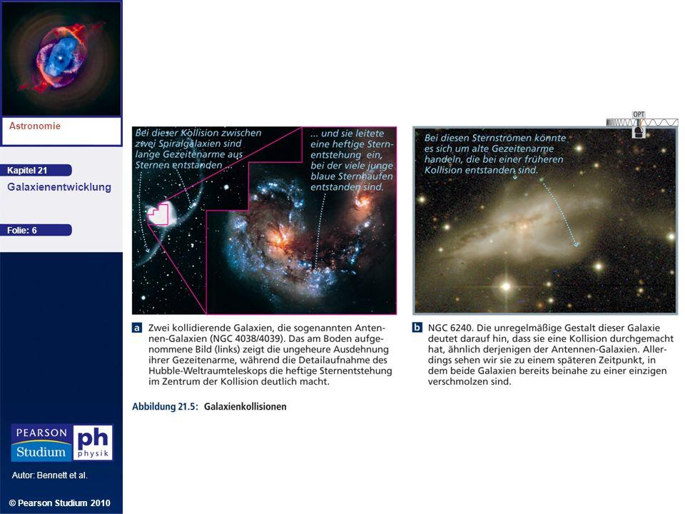 Kapitel 21 Astronomie Autor: Bennett et al. Galaxienentwicklung © Pearson Studium 2010 Folie: 6