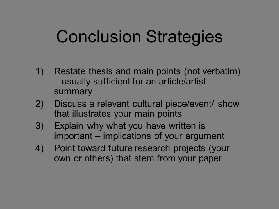 Dissertation Conclusion Length