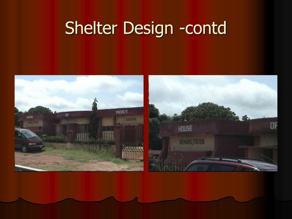 Shelter Design -contd