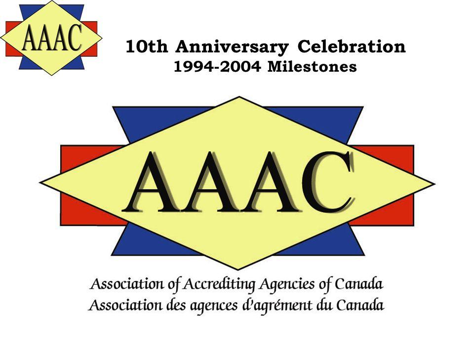 10th Anniversary Celebration 1994-2004 Milestones