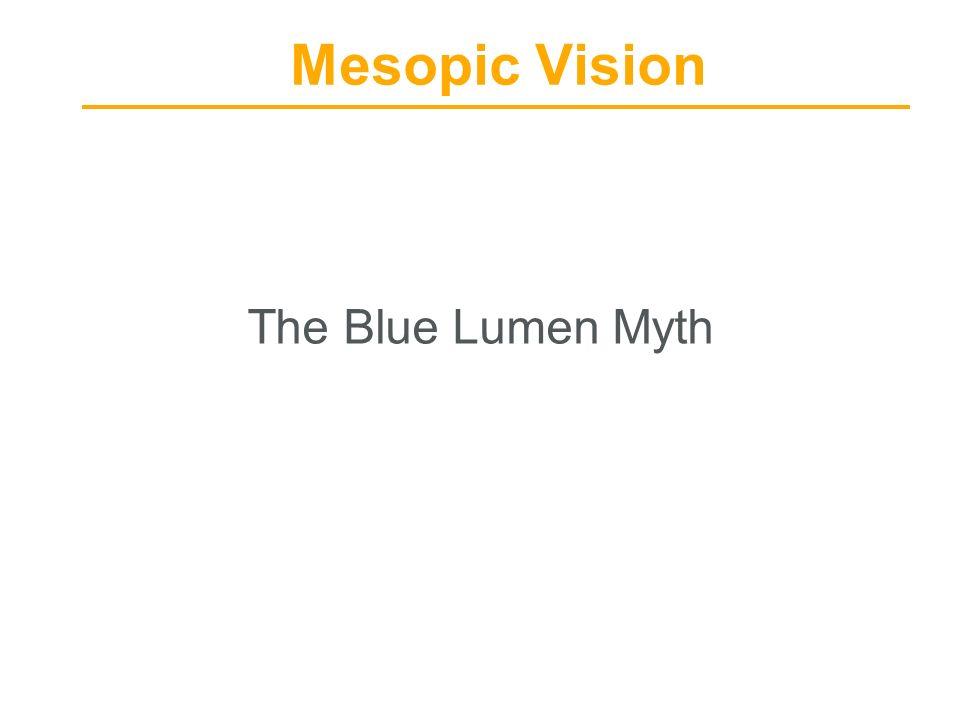 Mesopic Vision The Blue Lumen Myth