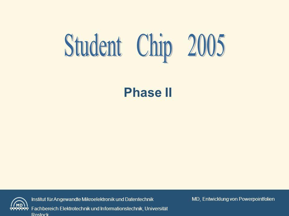 MD, Entwicklung von Powerpointfolien Institut für Angewandte Mikroelektronik und Datentechnik Fachbereich Elektrotechnik und Informationstechnik, Univ