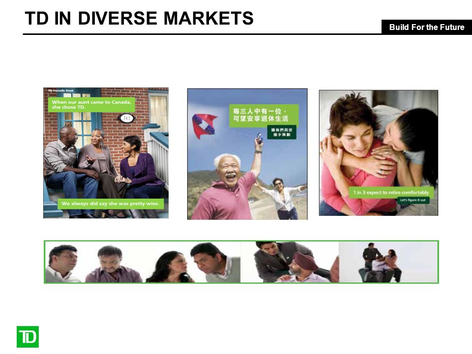 Build For the Future TD IN DIVERSE MARKETS
