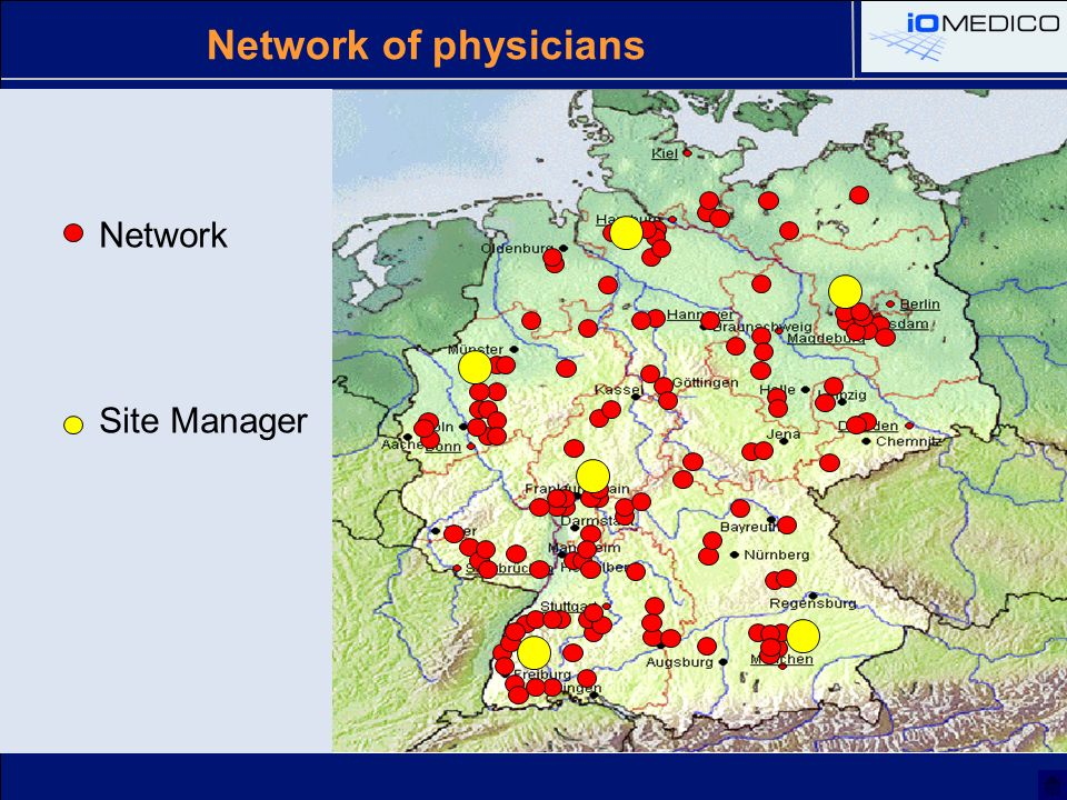 Network Site Manager Network of physicians