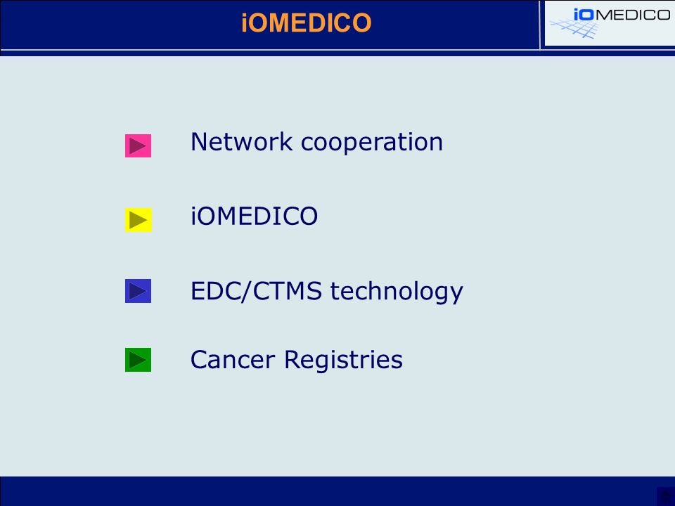 iOMEDICO Network cooperation EDC/CTMS technology Cancer Registries iOMEDICO