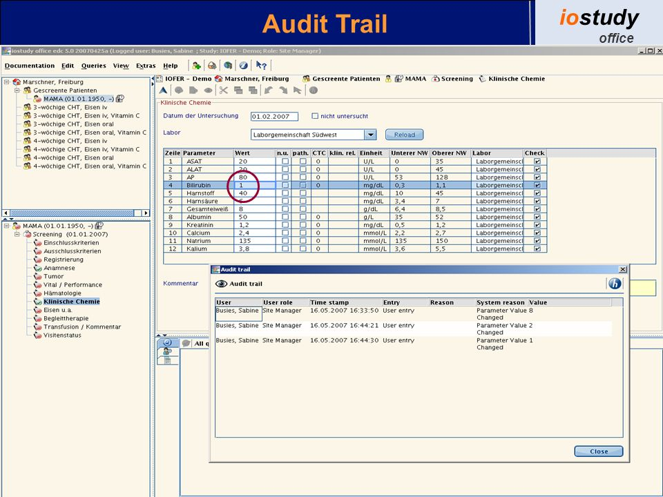 Audit Trail iostudy office